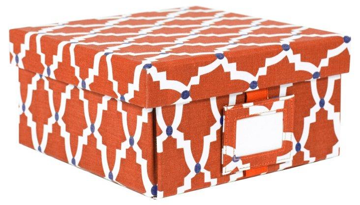 Large Lattice Box, Burnt Scarlet