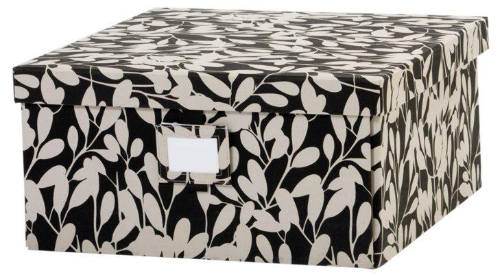 Medium Leaf Box, Black