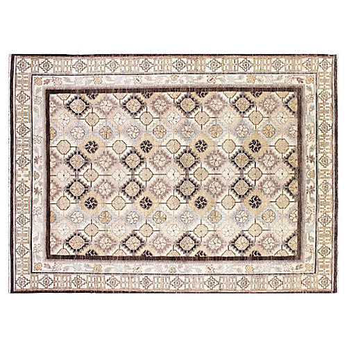 "9'1""x12'3"" Brittney Rug, Chocolate/Ivory"