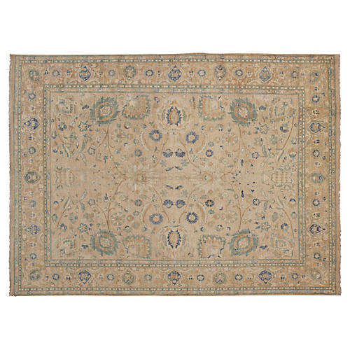 "8'x9'11"" Peshawar Jasmine Rug, Light Tan"