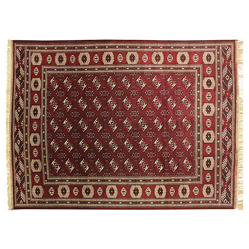 "9'x12'3"" Yamod Rime Rug, Red"