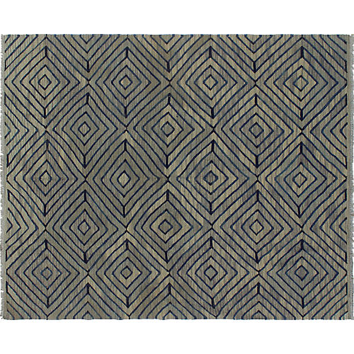"""6'x7'7"""" Winchester Nafisa Handwoven Rug, Gray/Blue"""