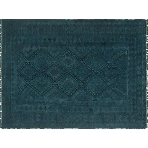 "5'x6'8"" Alberta Handwoven Rug, Blue/Gray"