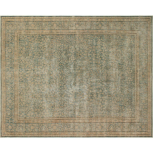 """9'5""""x12'6"""" Bartram Hand-Knotted Rug, Gray/Beige"""