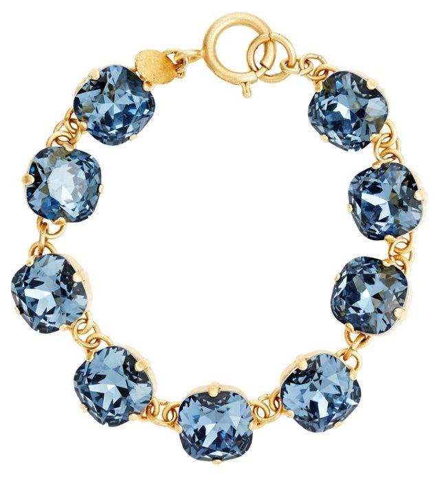 Midnight Crystal Linked Bracelet