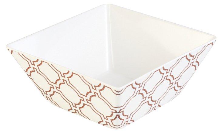S/4 Melamine Cortina Bowls, White/Orange