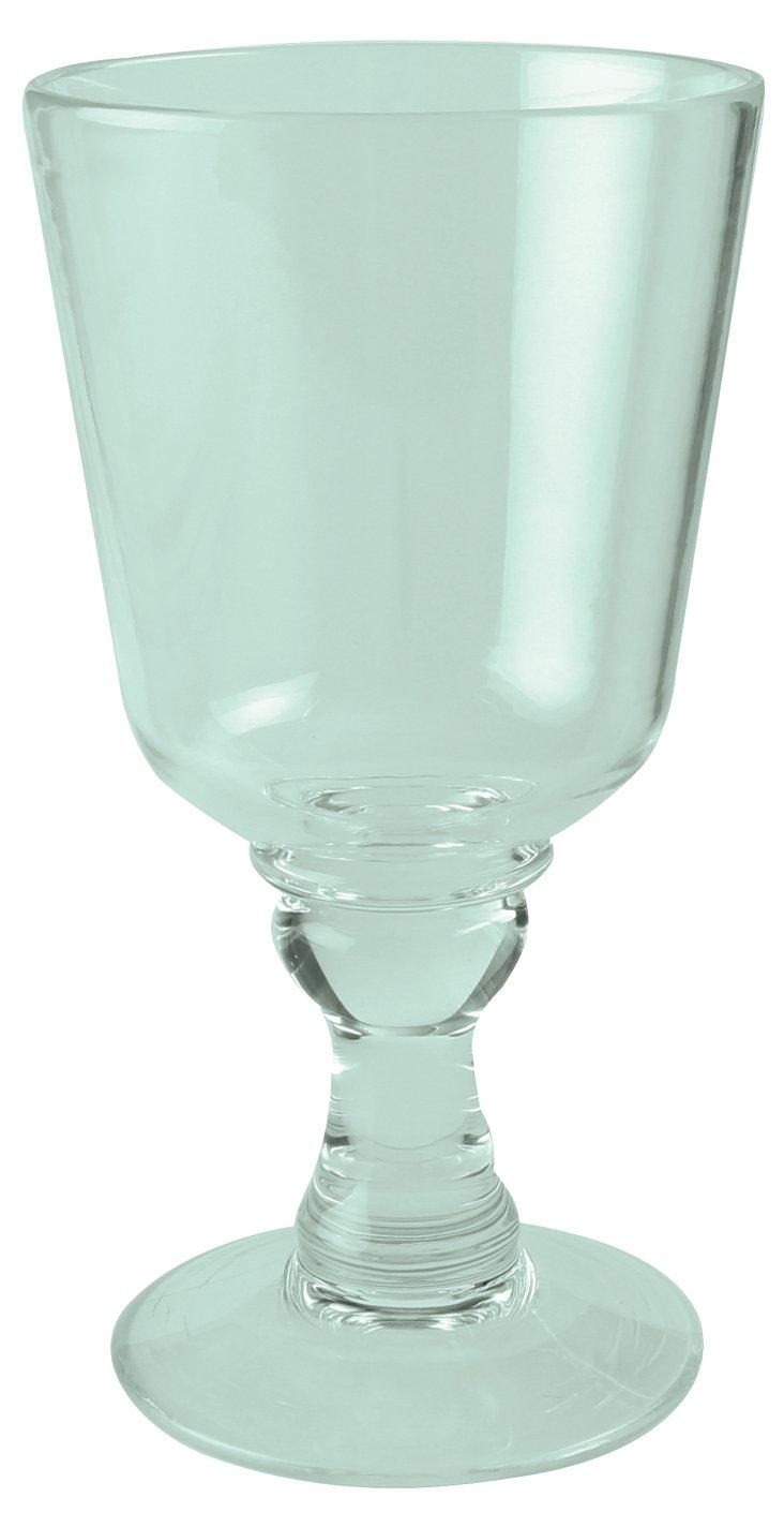 S/4 Plastic Vallarta Goblets, Green