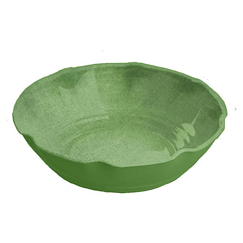 S/6 Savino Melamine Pasta Bowls, Green