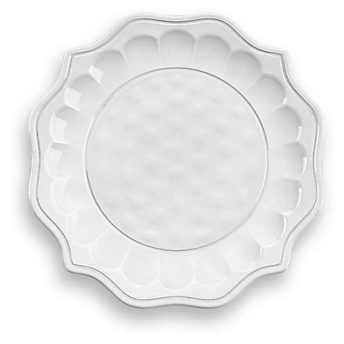 S/6 Savino Melamine Dessert Plates, White