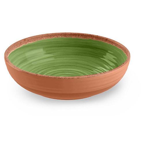S/12 Rustic Swirl Melamine Bowls, Green