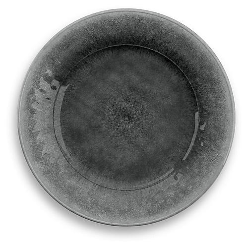 S/6 Potters Melamine Dinner Plates, Gray