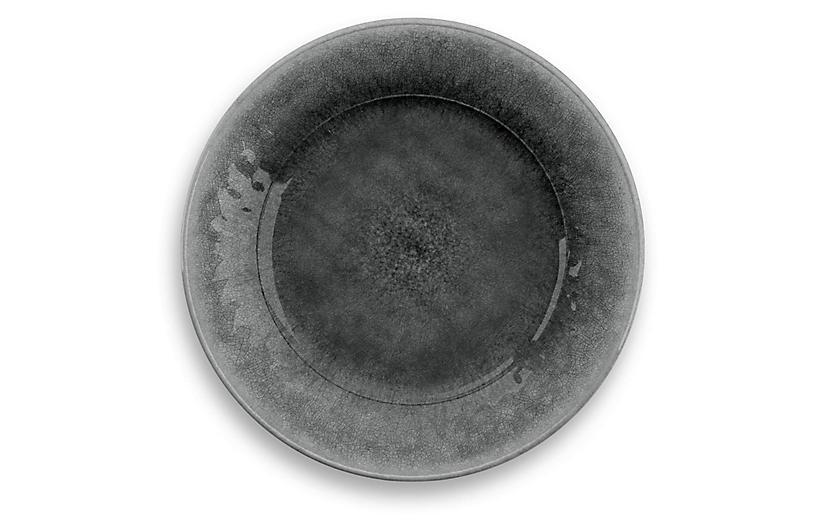S/6 Potters Melamine Dinner Plates, Gray
