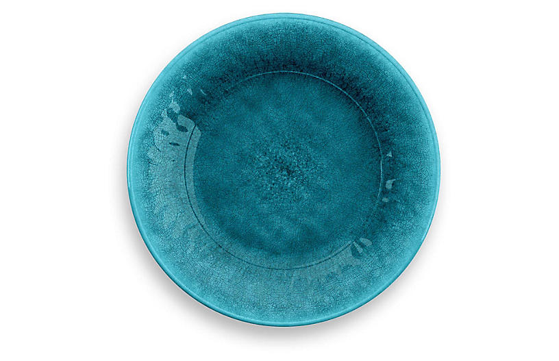 S/6 Potters Melamine Salad Plates, Teal