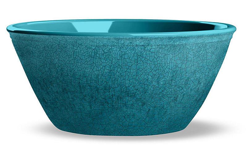 S/6 Potters Melamine Bowls, Teal