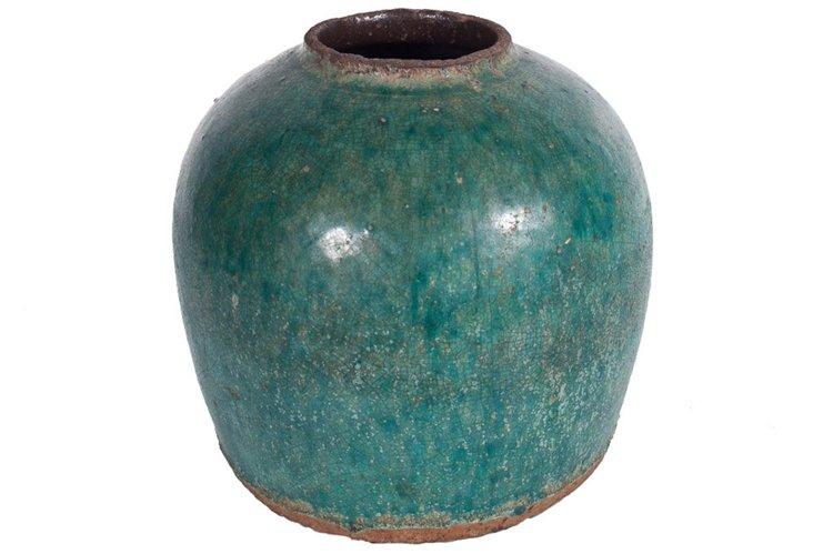 Glazed Green Vase