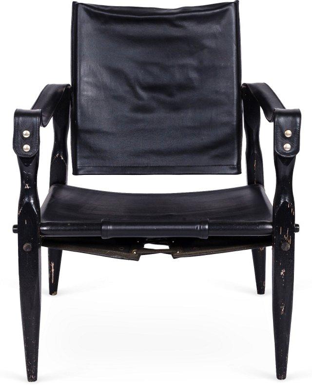 Wood & Leather Safari Chair