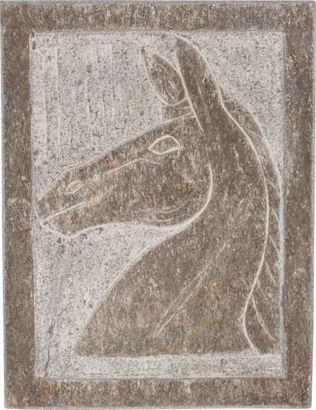Stone Horse Plaque