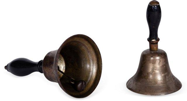Vintage Dinner Bells, Pair