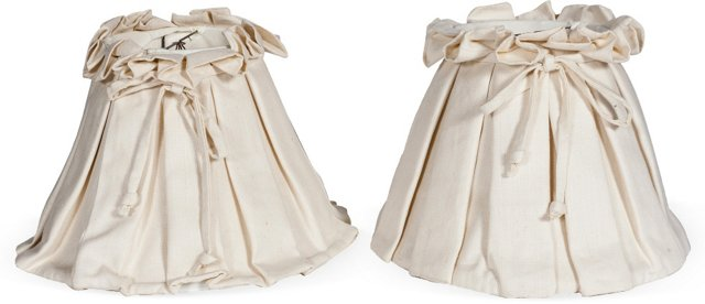 Pleated Lampshades, Pair