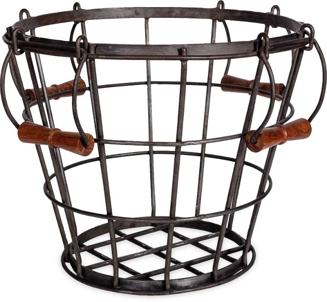 Metal Mudroom Basket