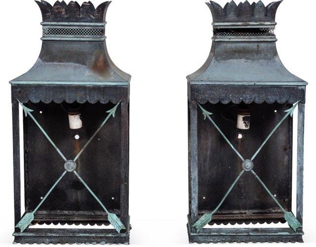 Directoire-Style Tole Sconces, Pair