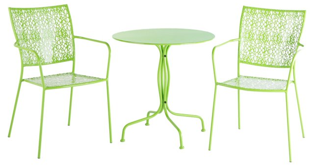 Martini Bistro Set, Lime Green
