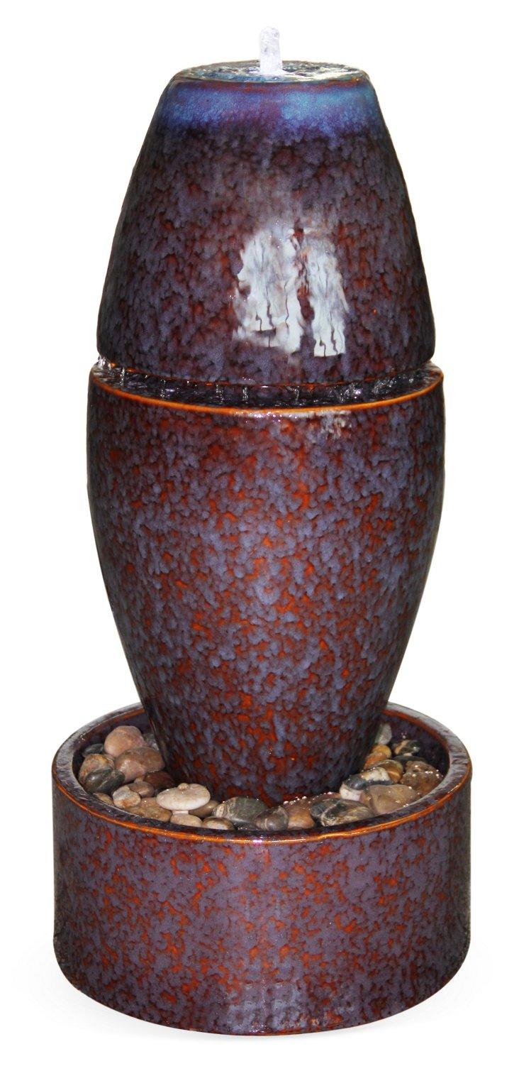 Catania Ceramic Fountain w/ Light & Pump
