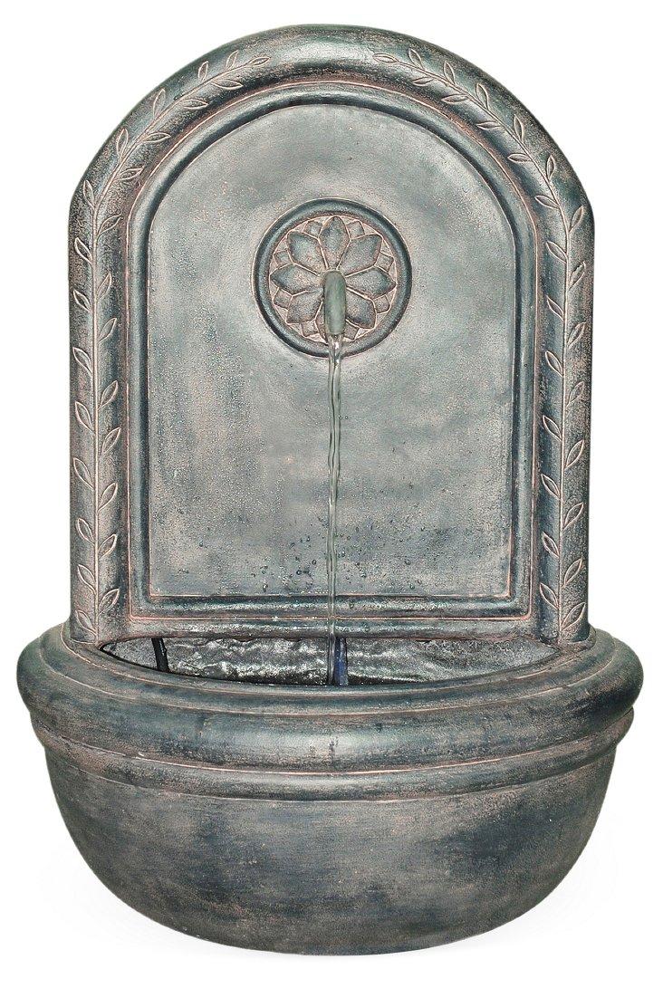 "26"" Cologne Wall Fountain w/ Pump, Gray"