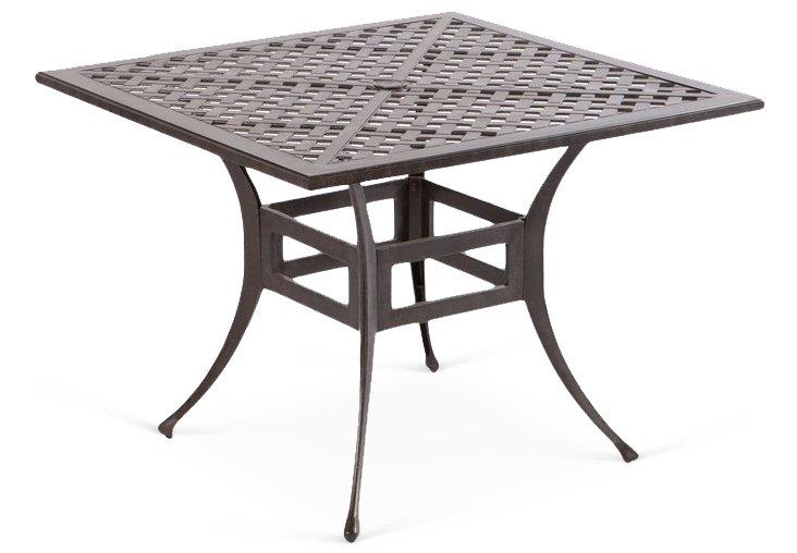 "Weave 40"" Square Dining Umbrella Table"