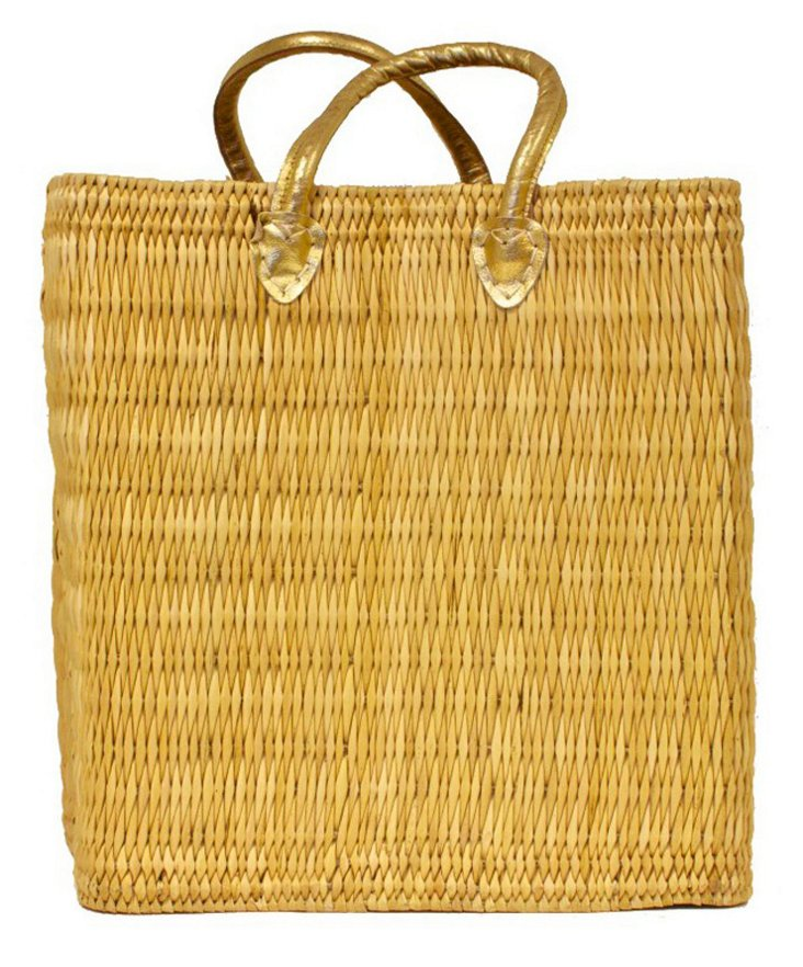 Tigmi Shopper Tote, Gold