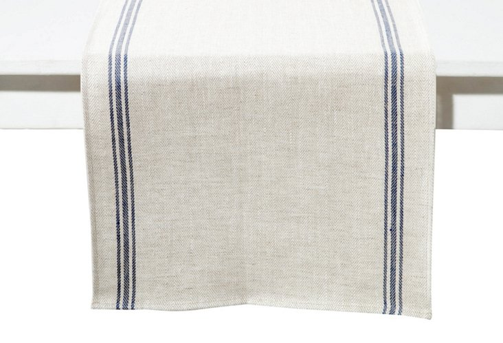 Luke Table Runner, Blue
