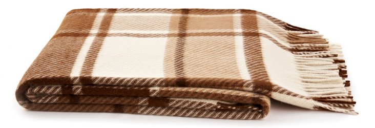 Rome Throw, Taupe/Brown