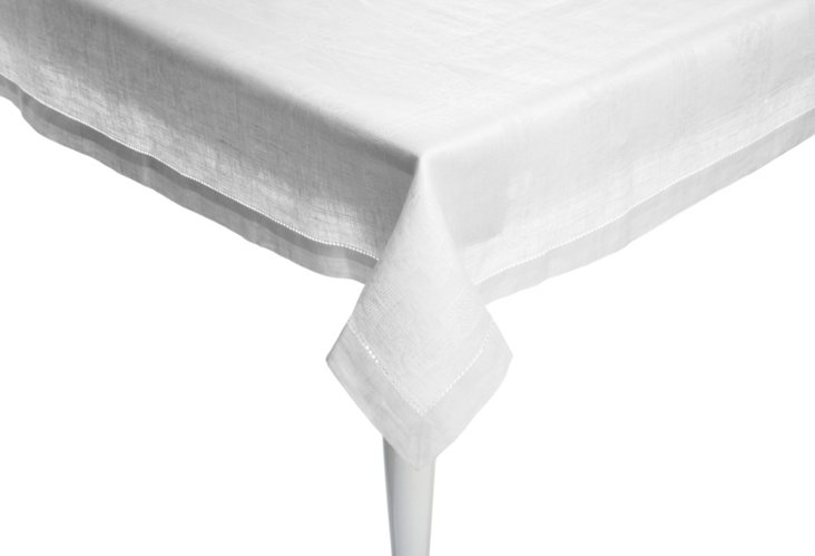 Natalie Tablecloth, White