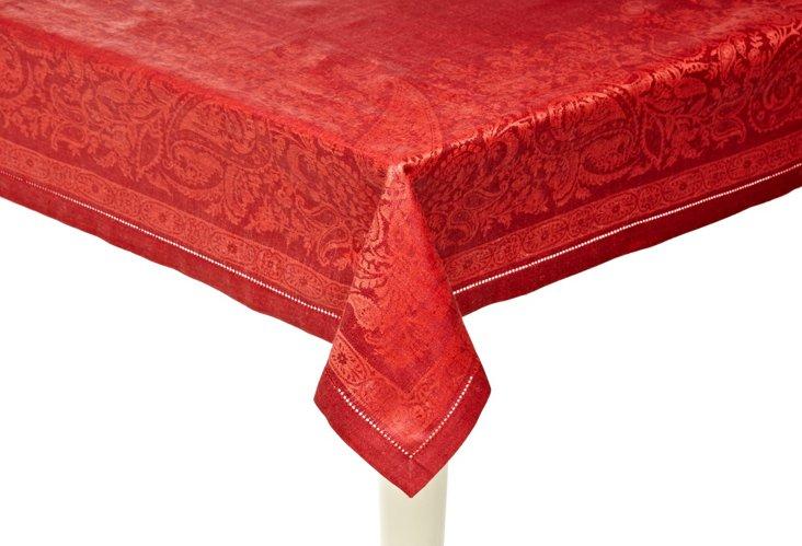 Paisley Burgundy Tablecloth