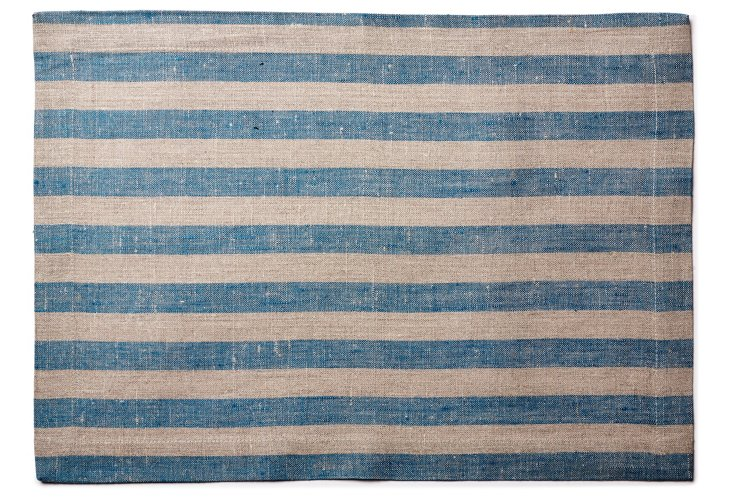 S/4 Serenite Place Mats, Teal