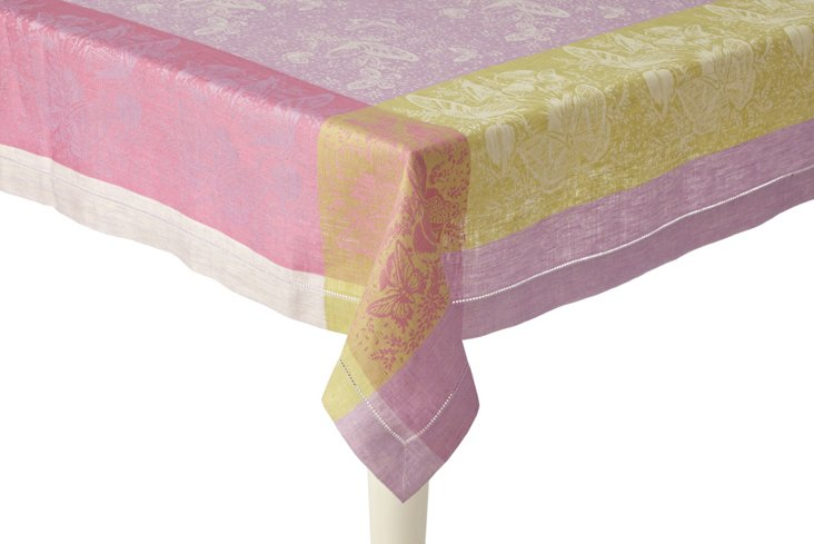 St. Tropez Lime Lavender Tablecloth