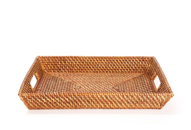 18x14 Rectangular Rattan Tray