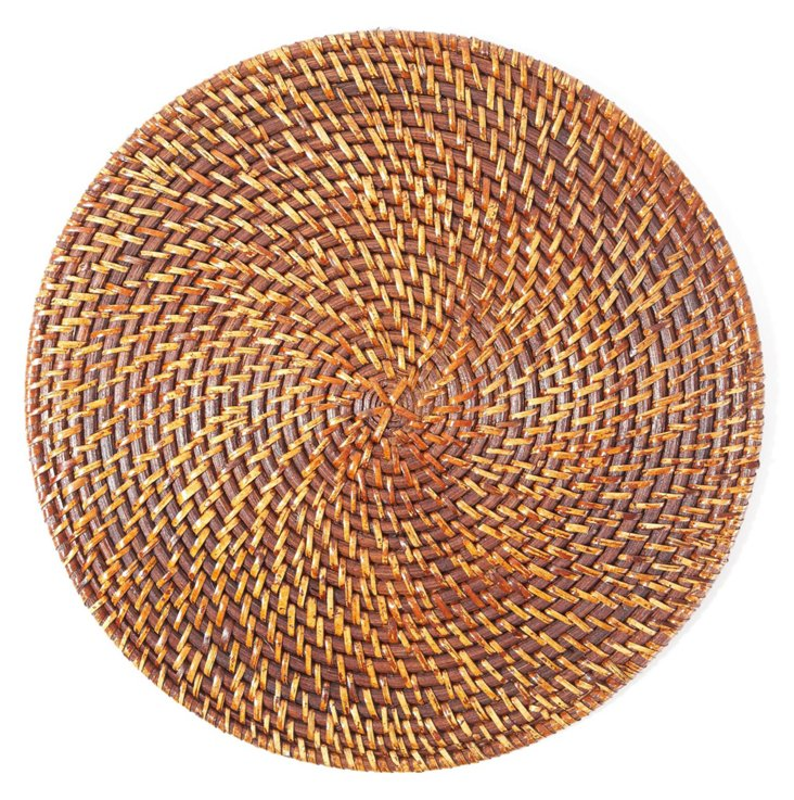 S/4 Rattan Place Mats, Tobacco