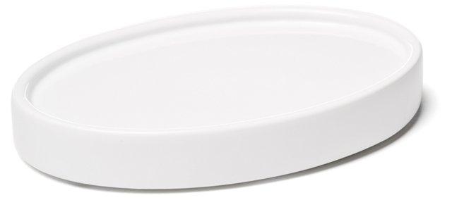 Classic Lacquer Soap Dish, White