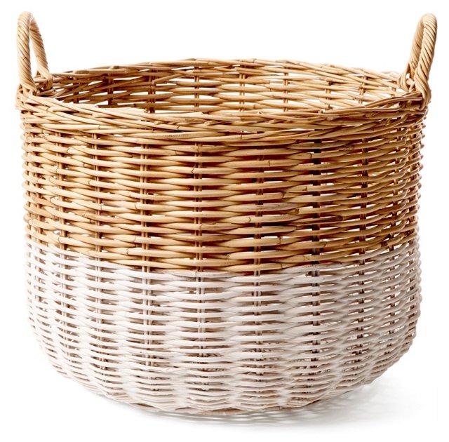 Large Orchard Basket, White/Natural