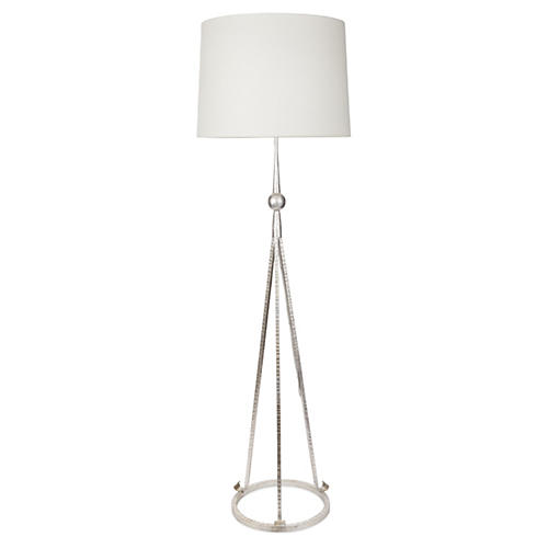 Celia Tripod Floor Lamp, Silver