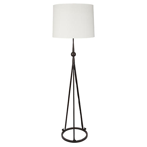 Celia Tripod Floor Lamp, Black