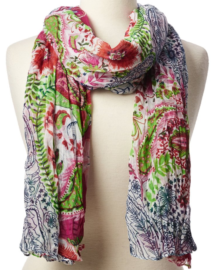 Scarf, Blue/Pink