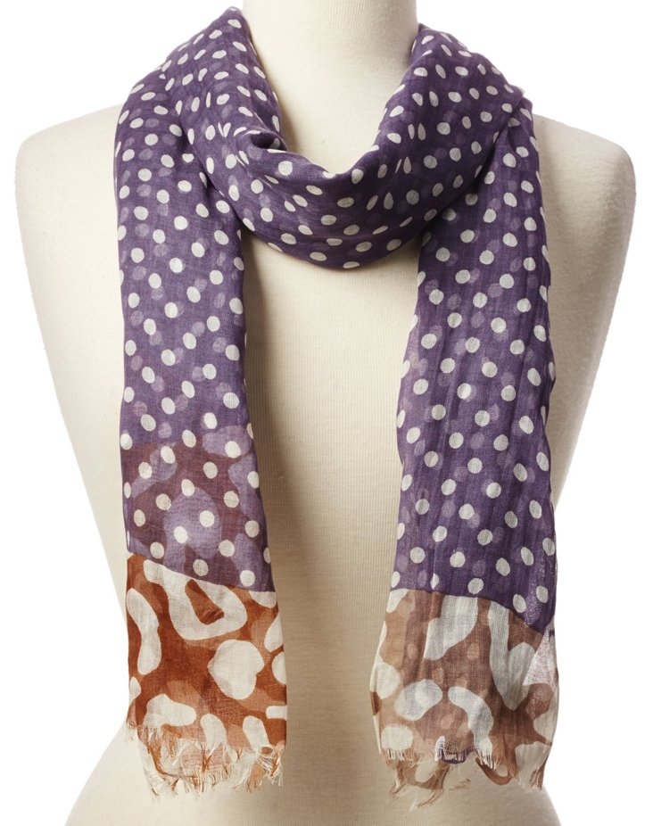 Scarf, Lilac Dots