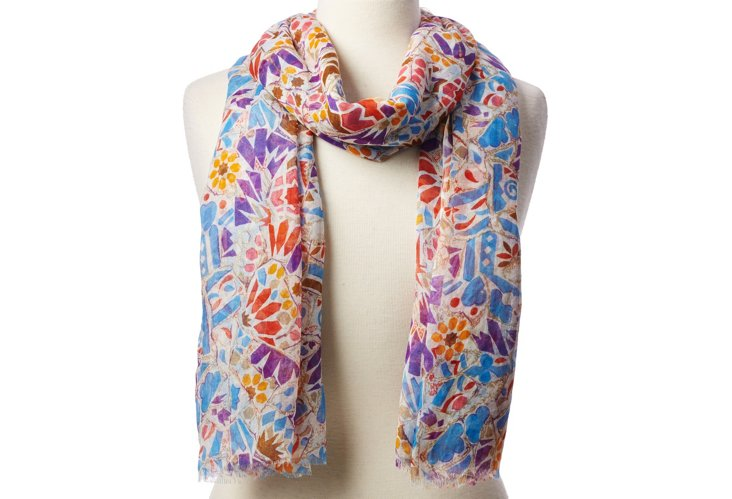 Scarf, Purple/Multi