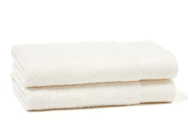 S/2 Greenway Cotton Hand Towels, Muslin