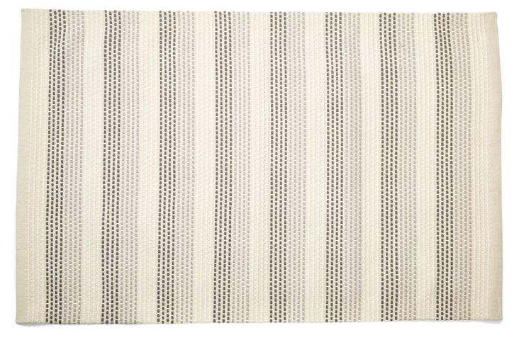 4' x 6' Linen Bath Rug, Multi