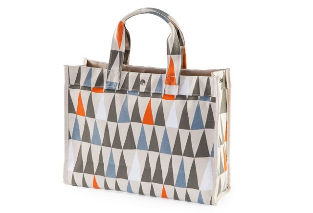 Canvas Flags Tote, Multi
