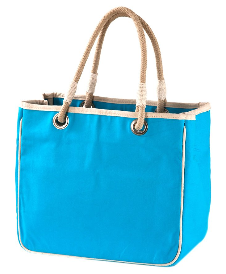Rope Tote, Turquoise