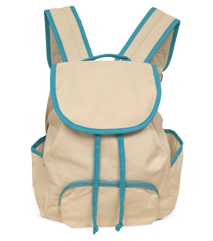 Backpack, Natural/Turquoise